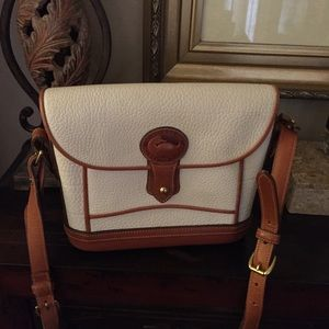 Vintage white and brown leather Dooney Crossbody